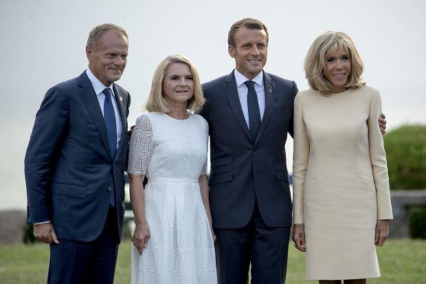 Szczyt G7 - Małgorzata Tusk, Brigitte Macron, Donald Tusk i Emmanuel Macron