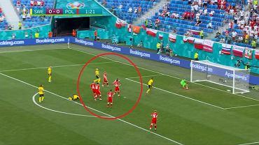 Reprezentacja Szwedzi wychodzi na prowadzenie w meczu fazy grupowej Euro 2020