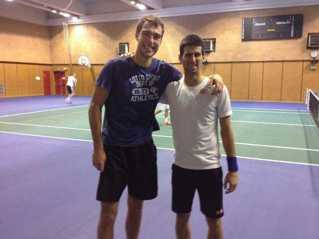 Jerzy Janowicz i Novak Djoković
