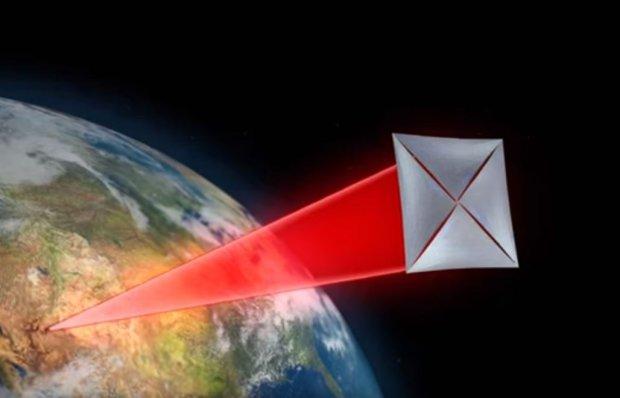 Laser napędzający żagiel sondy