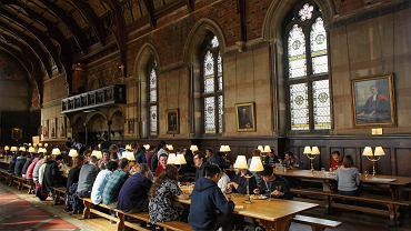 Jadalnia w Keble College w Oksfordzie