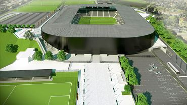 Wizualizacja stadionu miejskiego w Szczecinie, na którym będzie grać Pogoń