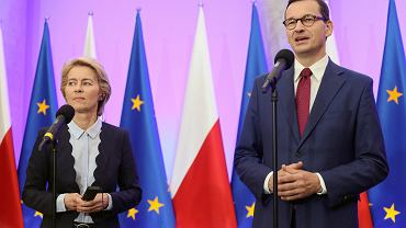Ursula von der Leyen i Mateusz Morawiecki, zdjęcie z 25.07.2019