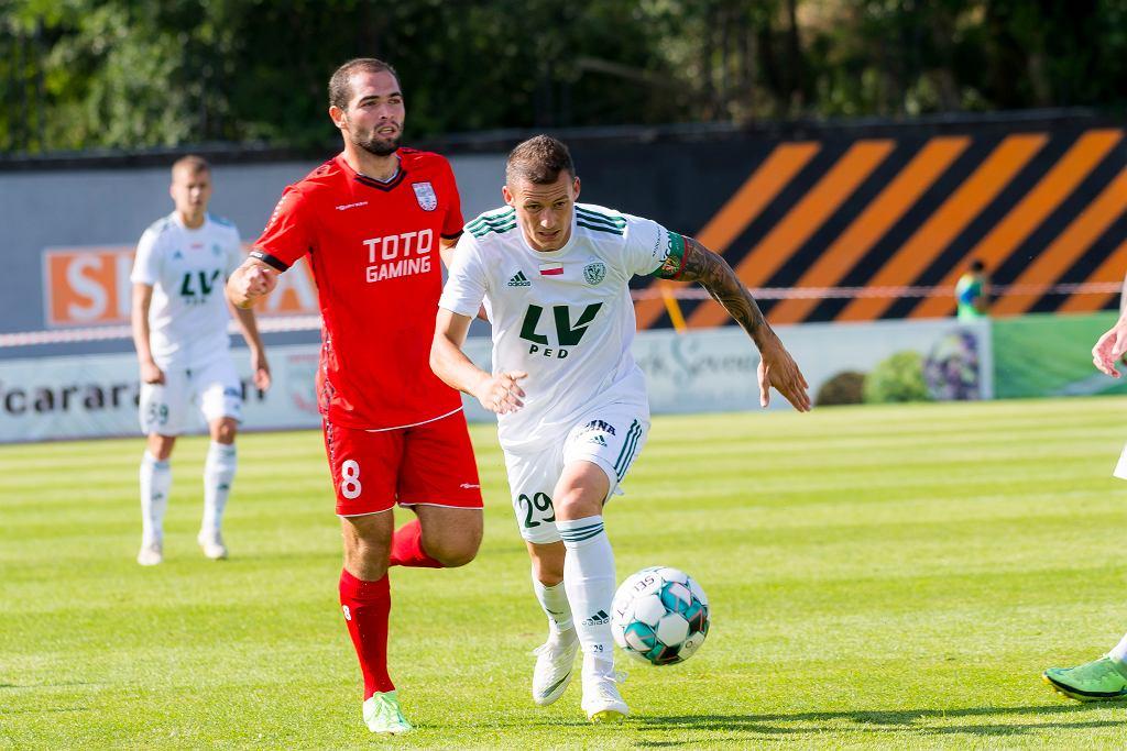 Krzysztof Mączyński w meczu Ararat - Śląsk
