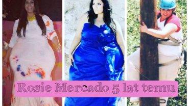 Rosie Mercado ma 36 lat i pracuje jako modelka plus size. Jeszcze kilka lat temu jednak była dwa razy cięższa. Zobacz jej spektakularną metamorfozę.