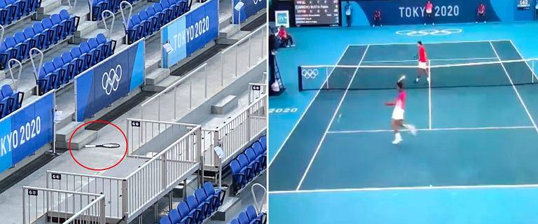 Sensacja w meczu o medal! Djoković wpadł w szał. Rakiety latały po korcie i trybunach