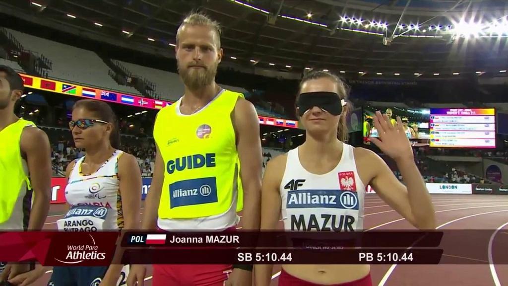 Joanna Mazur i Michał Stawnicki przed finałem na 1500 m mistrzostw świata w Londynie