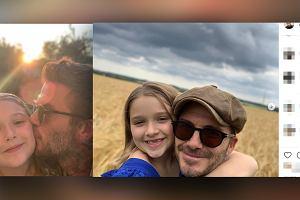 """David Beckham pocałował publicznie córkę w usta. Fani oburzeni: """"Nie tak się całuje swoje dziecko"""""""