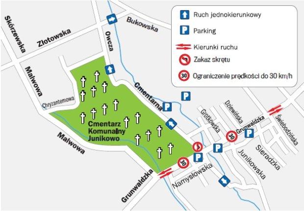 Cmentarz Junikowo Organizacja Ruchu We Wszystkich Swietych