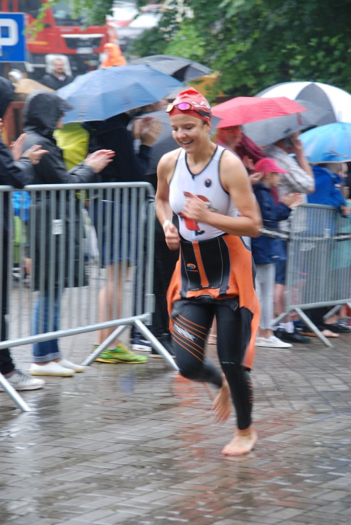 Joanna Jabłczyńska na trasie Triathlon Sieraków