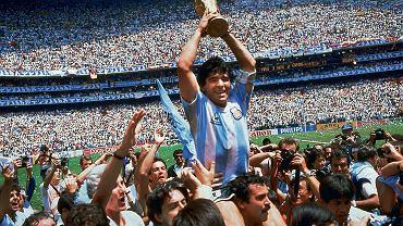 Diego Maradona na mundialu w Meksyku w 1986 r.