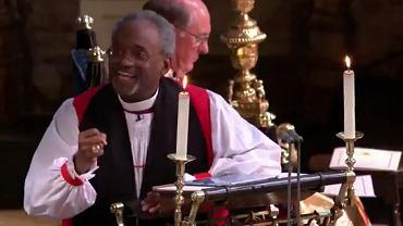 Biskup Michael Curry przemawiał podczas ślubu księcia Harry'ego i Meghan Markle