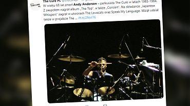Nie żyje Andy Anderson. Były perkusista The Cure przegrał walkę z rakiem