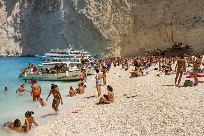 Plaża na Zakynthos, Grecja