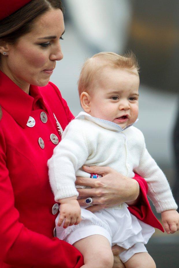 Księżna Kate, książę William i książę George