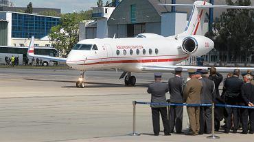 Pierwszy Gulfstream - nowy rządowy samolot do przewozu VIPów prezentowany na Okęciu, 20.06.2017