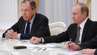 Siergiej Ławrow i Władimir Putin