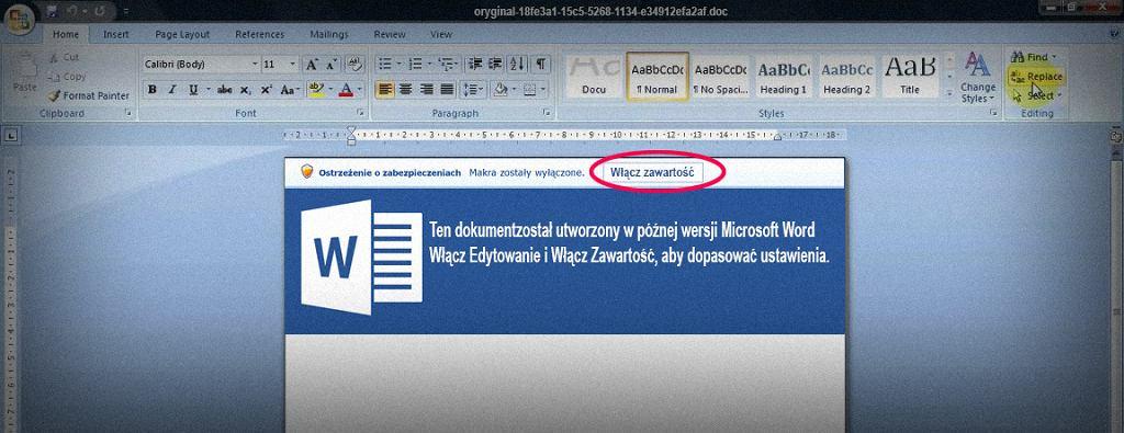Spreparowany plik pobierze szkodliwe oprogramowanie
