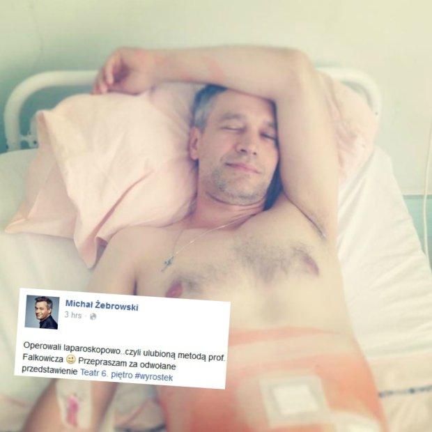 Michał Żebrowski po operacji wyrostka robaczkowego