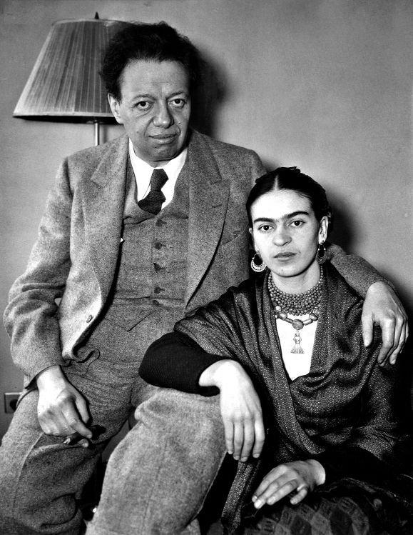 Diego i Frida w hotelu w Nowym Jorku, rok 1933