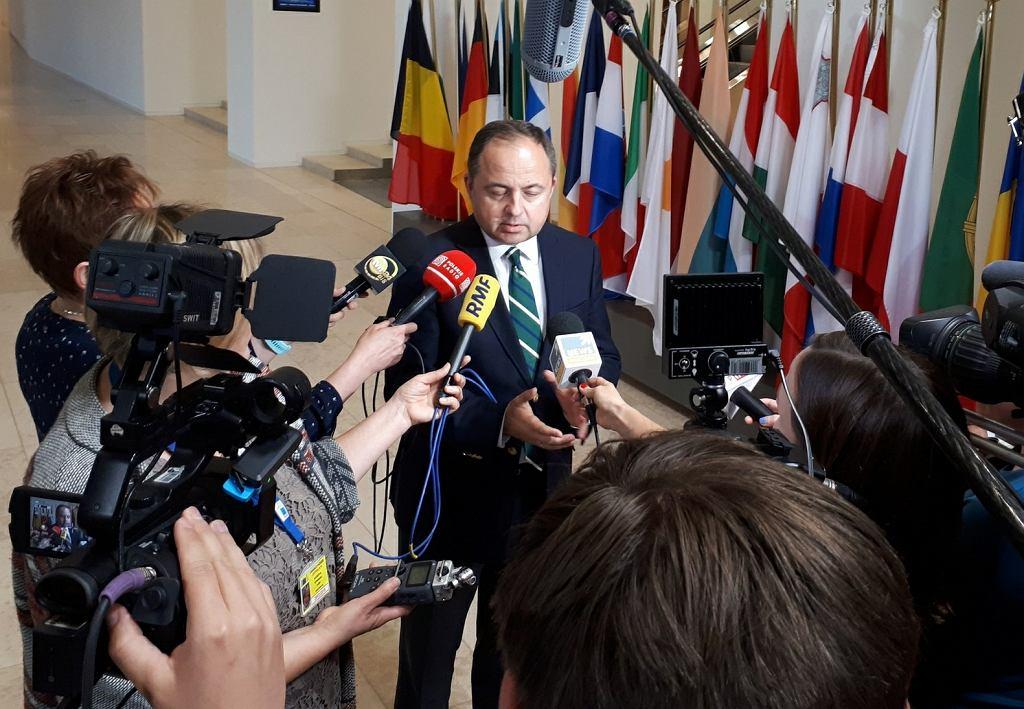 Wiceszef MSZ Konrad Szymański w Luksemburgu