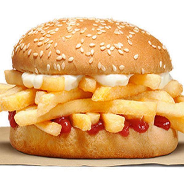 Burger z... frytkami