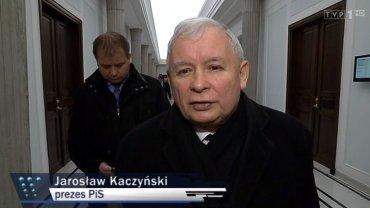 """Jarosław Kaczyński w kadrze """"Wiadomości"""""""