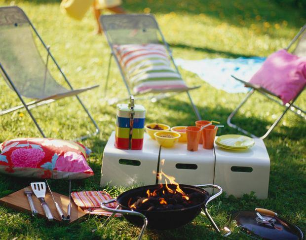 Kolorowy piknik na łące