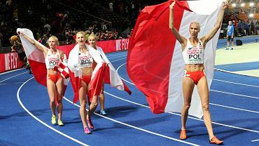 ME Berlin 2018.  Małgorzata Hołub-Kowalik, Patrycja Wyciszkiewicz, Justyna Świety-Ersetic i Iga Baumgart Witan po zwycięskim finale sztafety 4 x 400m