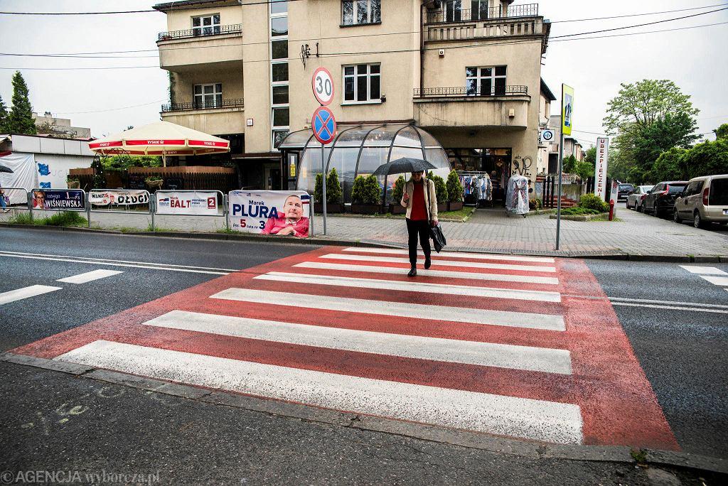 Przejście dla pieszych przy ulicy Panewnickiej