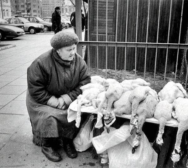 Warszawa, lata 90. Bazar na Polnej