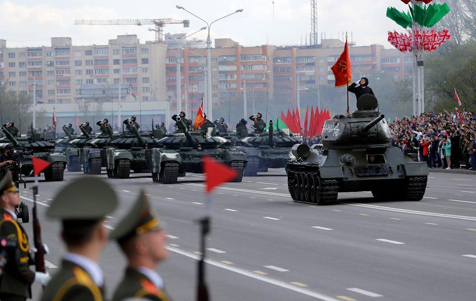 Defilada w Mińsku z okazji Dnia Zwycięstwa, 9 maja 2020.