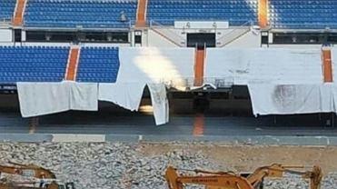 Stadion Realu Madryt w przebudowie