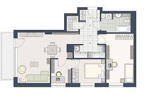Dobre miejsce na minibiuro w 70-metrowym mieszkaniu