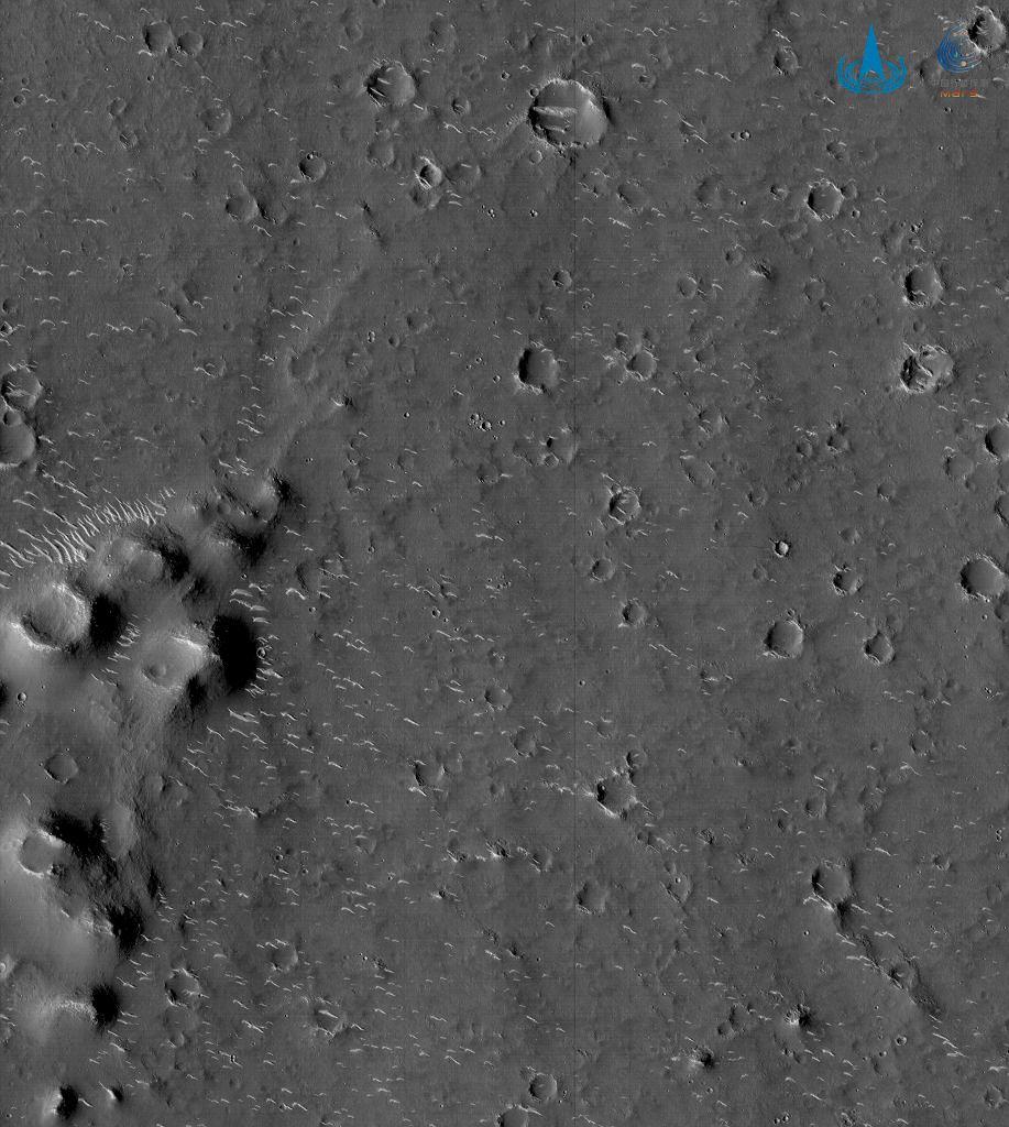 Fragment równiny Utopia Planitia na zdjęciu misji Tianwen-1