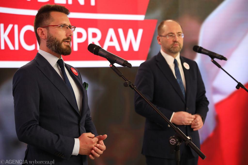Konferencja prasowa w sztabie Andrzeja Dudy
