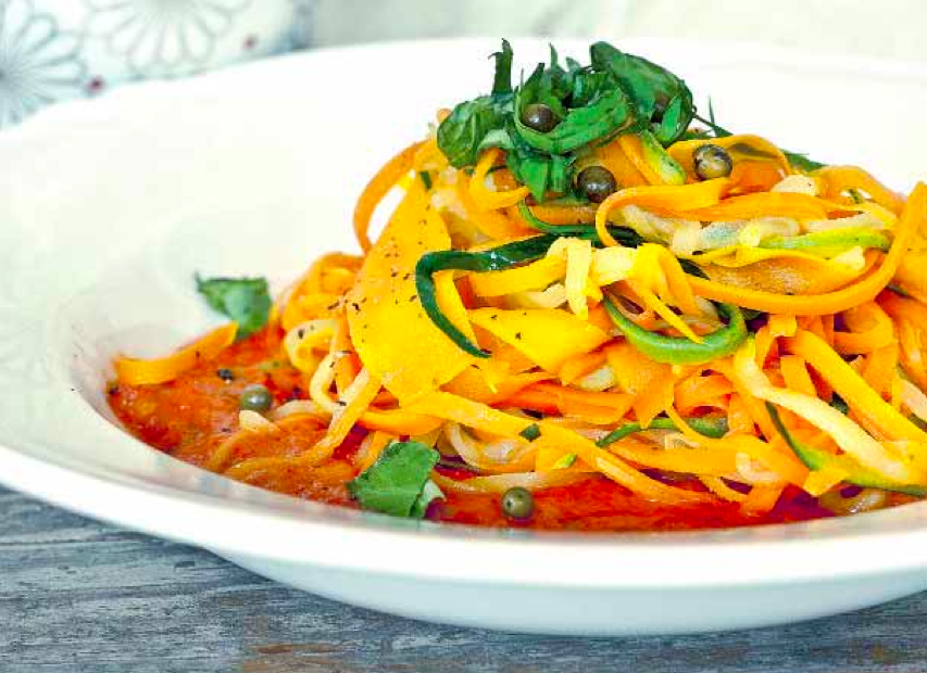 makaron warzywny, karolina na detoksie