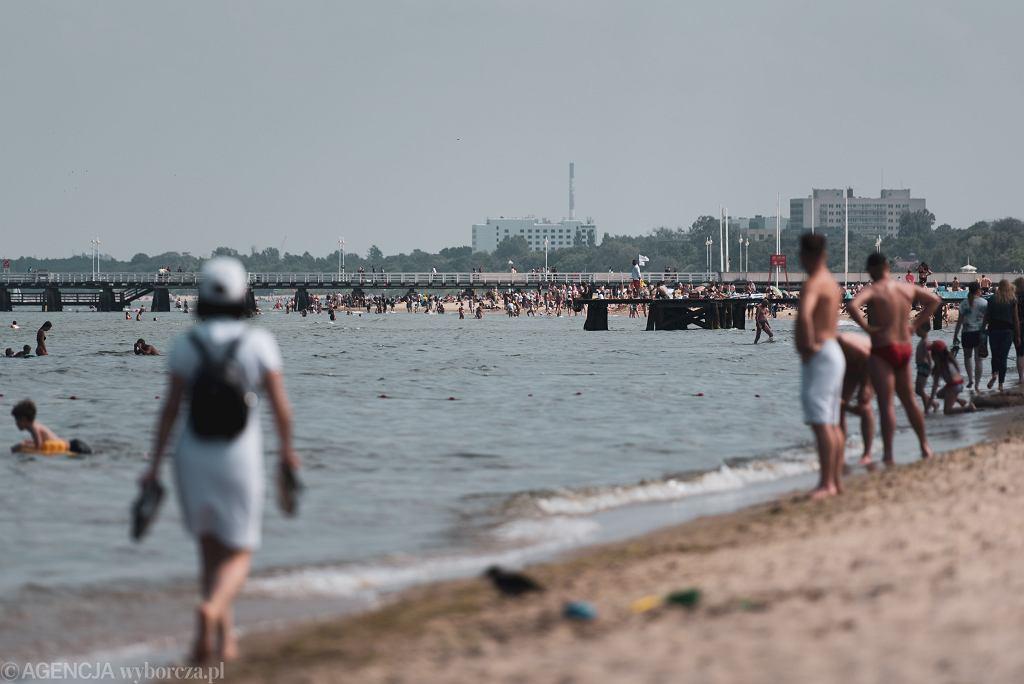Pogoda w weekend 18 i 19 lipca 2020 r. Plaża w Sopocie