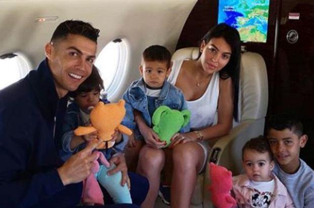 Cristiano Ronaldo i Georgina Rodriguez z dziećmi