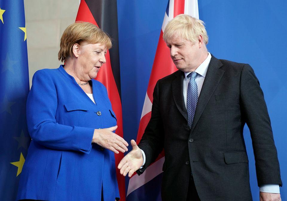 21.08.2019, Berlin, spotkanie kanclerz Niemiec Angeli Merkel z premierem Wielkiej Brytanii Borisem Johnsonem.