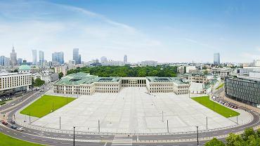 Wizualizacja odbudowanego Pałacu Saskiego