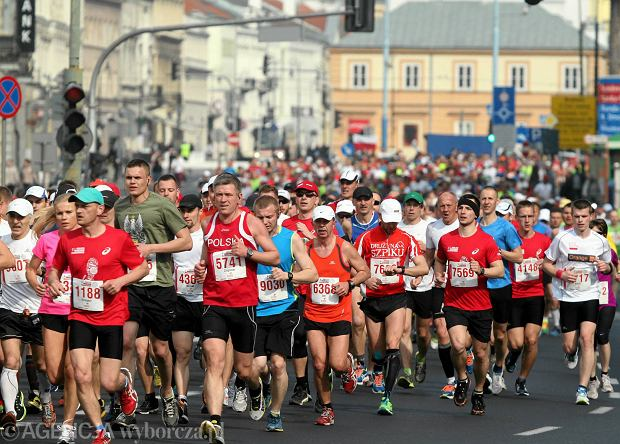 13.04.2014  Warszawa . Warsaw Orlen Marathon  . Agencja Gazeta SLOWA KLUCZOWE: biegi uliczne