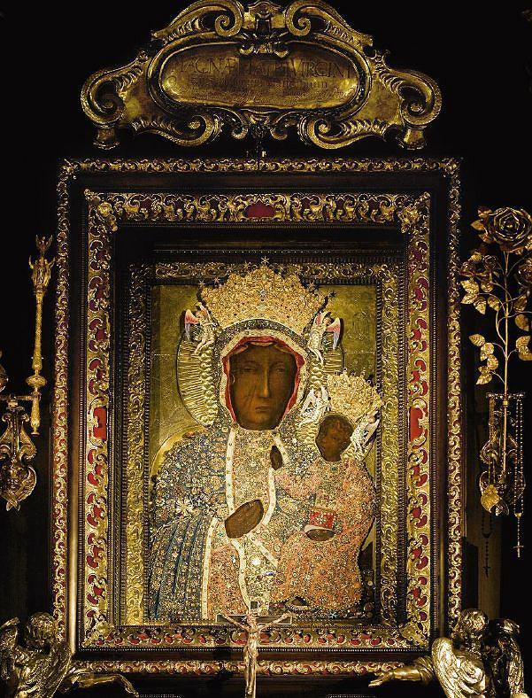 Obraz Czarnej Madonny w sanktuarium na Jasnej Górze w Częstochowie / fot. Tomasz Fedor