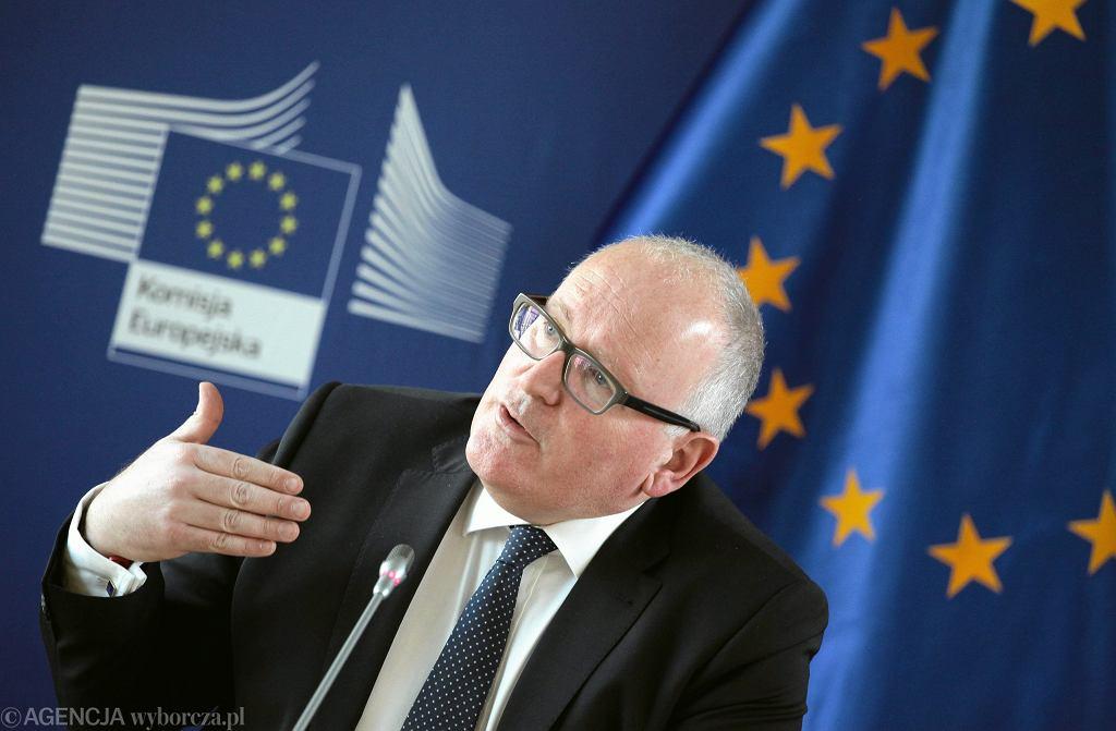 Wiceprzewodniczacy Komisji Europejskiej Frans Timmermans