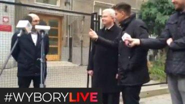 Ryszard Petru i protest partii KORWiN