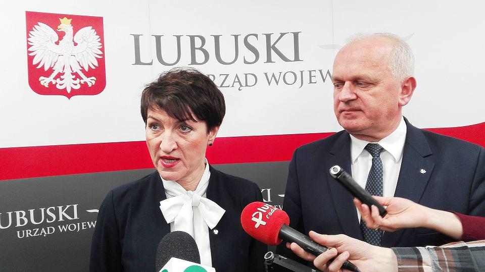 Marszałek Elżbieta Polak i wojewoda Władysław Dajczak