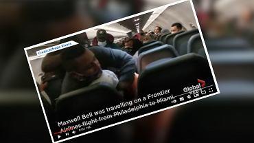USA. Pasażer przyklejone taśmą klejącą do siedzenia. Molestował stewardessy i uderzył stewarda [WIDEO]