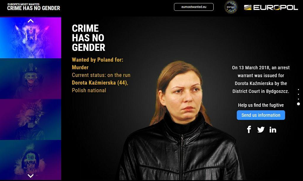 Dorota Kaźmierska, fot. https://eumostwanted.eu