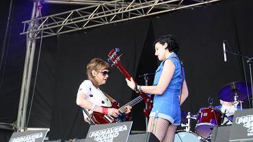 Zespół Ex Hex podczas festiwalu Primavera Sound 2015 w Barcelonie