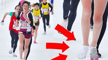 Clare Carroll biegnie po medal bez butów